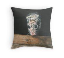 AJA/Oil on canvas Throw Pillow