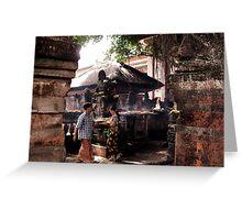 Offerings in Ubud Market, Bali Greeting Card