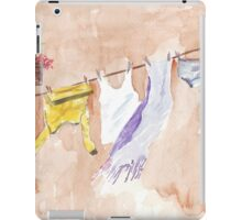 The Clothesline said so much iPad Case/Skin