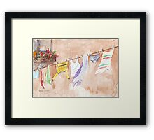 The Clothesline said so much Framed Print