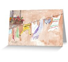 The Clothesline said so much Greeting Card