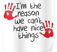 I am the reason we can't have nice things Poster