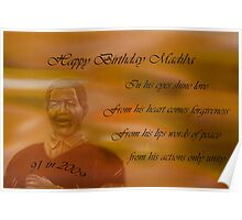 Happy Birthday Madiba Poster