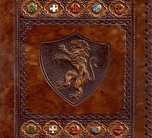 Hand-Tooled Leather Medieval Book Cover by ZeroAlphaActual