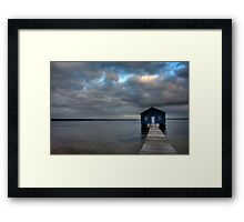 The perfect storm Framed Print