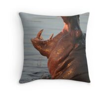 Hungry Hippo Throw Pillow