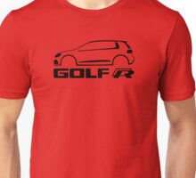 VW Golf R silhouette Black Unisex T-Shirt
