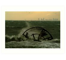 Melbourne from the Ozone Paddle Steamer Wreck Art Print