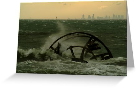 Melbourne from the Ozone Paddle Steamer Wreck by Joe Mortelliti