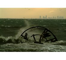 Melbourne from the Ozone Paddle Steamer Wreck Photographic Print