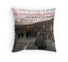 Aswan Market Throw Pillow