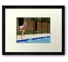 Learning To Cannonball Framed Print