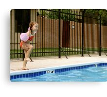 Learning To Cannonball Canvas Print