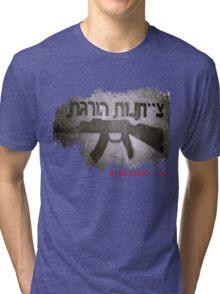 obedience kills - black and white Tri-blend T-Shirt