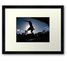 Jumping. Framed Print