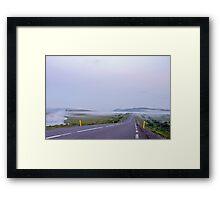 Low fog near Gullfoss Framed Print