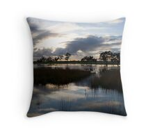 Sunrise Blues Throw Pillow