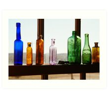 Bottles, Silverton Cafe, Outback Australia Art Print
