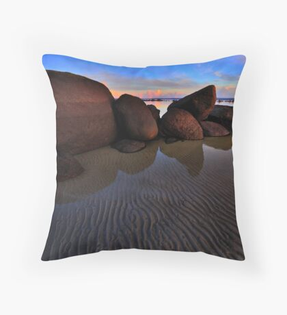Tide Lines on the Rock Throw Pillow