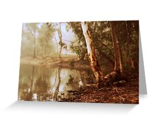 Winter's Morn at Kennington Resevoir By Lorraine McCarthy Greeting Card