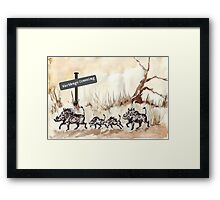 Warthogs Crossing Framed Print