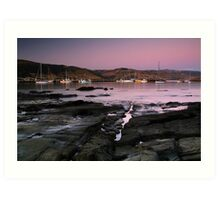 Dusk Apollo Bay Harbour Art Print