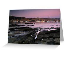 Dusk Apollo Bay Harbour Greeting Card