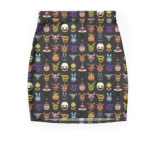 Five Nights at Freddy's - Pixel art - Multiple characters Pencil Skirt