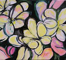 Frangipanis by Julie-Ann Vellios