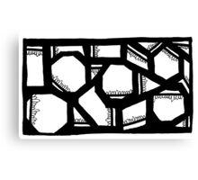 BW Geometrics Canvas Print