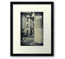 Strada al Duomo - The road to the Duomo Framed Print