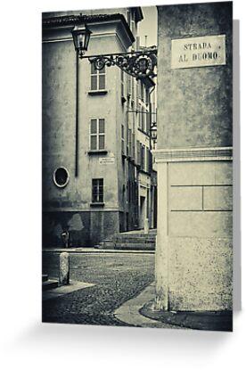 Strada al Duomo - The road to the Duomo by Silvia Ganora