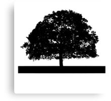 Black and White Tree Clip Art Canvas Print