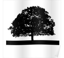 Black and White Tree Clip Art Poster