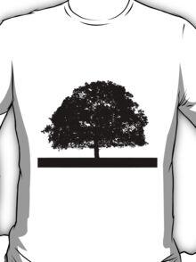 Black and White Tree Clip Art T-Shirt