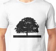 Black and White Tree Clip Art Unisex T-Shirt