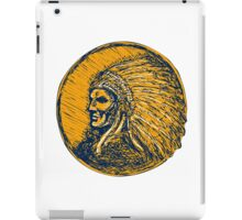 Native American Indian Chief Headdress Drawing iPad Case/Skin
