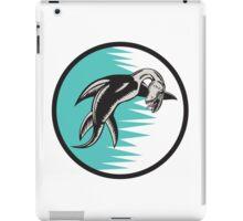 Sea Serpent Circle Woodcut iPad Case/Skin