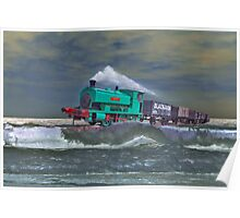 Surfing Train. Poster