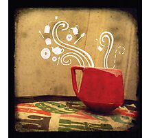 Little Red Teacup Photographic Print