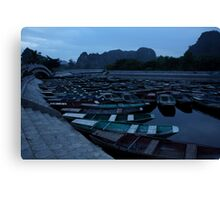 Tam Coc Boats Canvas Print