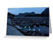 Tam Coc Boats Greeting Card