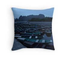 Tam Coc Boats Throw Pillow