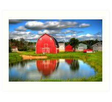 Country Barnyard Art Print