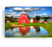 Country Barnyard Canvas Print