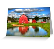 Country Barnyard Greeting Card