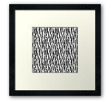 White Tiger Skin Framed Print