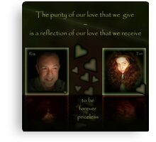 Rog and Teri - Now As One Canvas Print