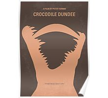 No210 My Crocodile Dundee minimal movie poster Poster