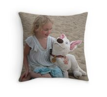 Kaara with her friend Bolt. Throw Pillow